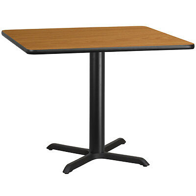 42'' Square Natural Laminate Table Top With 33'' X 33'' Table Height Base