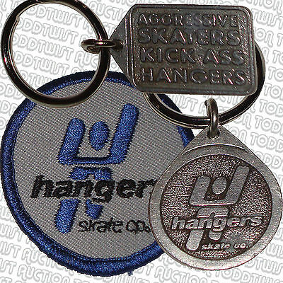 HANGERS SKATE CO - Key Rings / Sew  on Patch - Vintage Aggressive Inline Skate