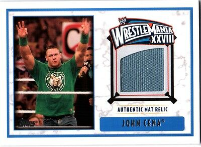 WWE John Cena 2012 Topps WrestleMania 28 Authentic Event Used Mat Relic Card