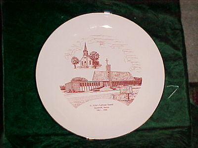 ST PETERS Lutheran Church Plate HUMBOLDT KS 1863-1988 COLLECTOR COMMERATIVE