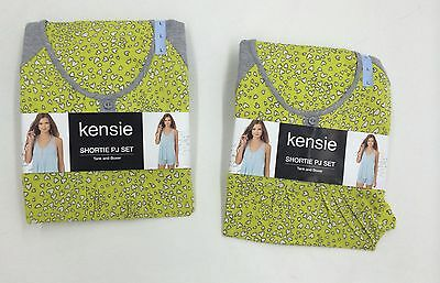 Womens Assorted Lot Of Kensie Shortie Pajama Sets Size Large Includes 2 Sets