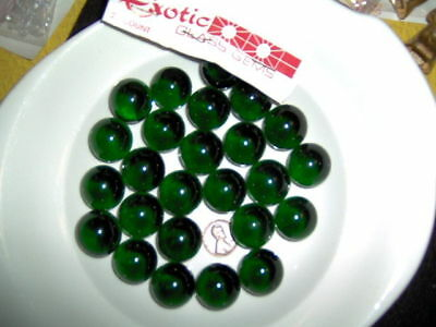 Vintage Green Glass West Virginia Marbles - 3/4""