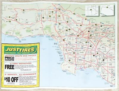 MAP OF L.A. & O.C. FREEWAY SYSTEMS ~ COUPONS FOR JUST TIRES FREE SHIPPING IN USA