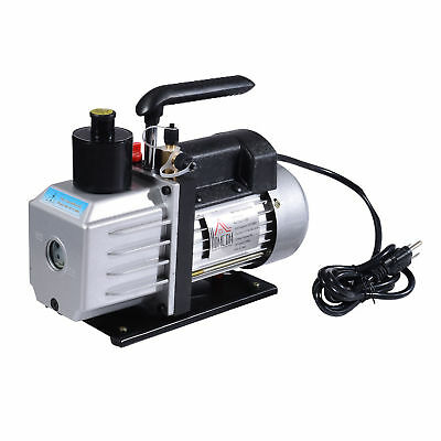 HOMCOM Single Stage Vacuum Pump 7CFM 1/2HP Rotary Vane Deep HVAC AC Air Tool New