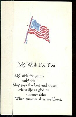 Patriotic My Wish for You (Pre-20)postcard (Military Greetings)#48