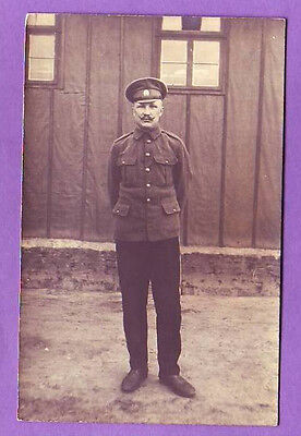 RUSSIA SOLDIER PHOTO POSTCARD ~ 1917 (A502)