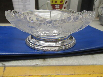 Cambridge ROSE POINT CLEAR 3 Part With Relish Dish (Sterling Base) 2345032