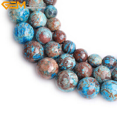 Dyed Faceted Genuine Blue Crazy Lace Agate Stone Loose Beads Strand 15""