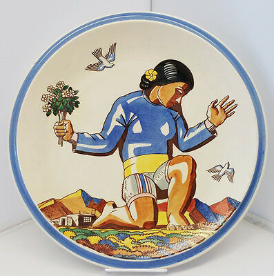Rare And Beautiful Vernon Kilns Salamina Charger By Rockwell Kent Circa 1939