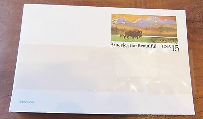 Bundle of Unused America the Beautiful US Postal Service 15 Cent Post Cards
