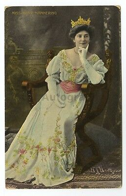 Mary Mannering - Classic English Actress - Vintage Postcard - 1911