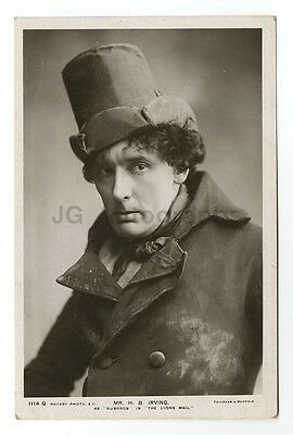 Harry Brodribb Irving - English Stage Actor - Vintage Silver Print Postcard