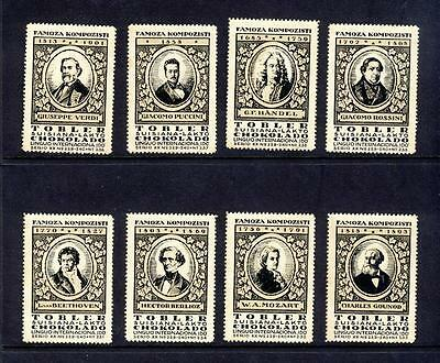 Famous Composers-Old Portrait Stamps-Mozart-Puccini-Handel Etc-Buy Separately