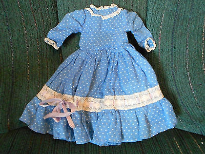 Vintage original untagged Mary Hoyer blue swiss dot SOUTHERN BELLE dress