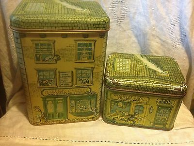 Cheinco Town Village Canister Set Chein Co 1979 Vintage Tins
