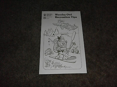 VINTAGE WOODSY OWL FOREST SERVICE RECREATION TIPS BOOKLET 1989