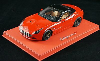 1/18 BBR FERRARI CALIFORNIA T COUPE RED 322 ON DELUXE BASE LE 10 PCS N MR