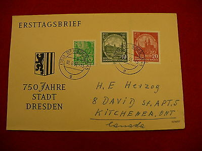 First Day Cover FDC 750 year anniversary Dresden Germany 1956