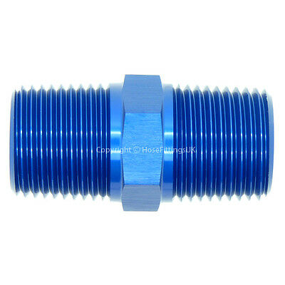 1/8 NPT to 1/8 NPT STRAIGHT MALE COUPLER UNION Fuel Oil Hose Fitting Adapter