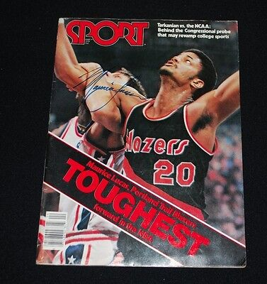 March 1978 Maurice Lucas Trailblazers Signed SPORT Magazine-No Label-EX/MT