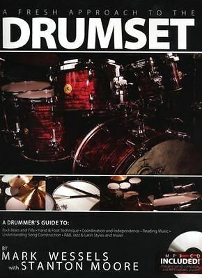 Mark Wessels A Fresh Approach To The Drumset Sheet Music Book + CD. Learn Drums