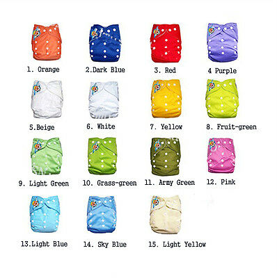 Baby Reusable Cloth Diaper Nappy Inserts Adjustable 2m4