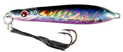 """gypsy lures saltwater speed jig 150g 5 1//4oz 7/""""  dolphin holo butterfly red nose"""