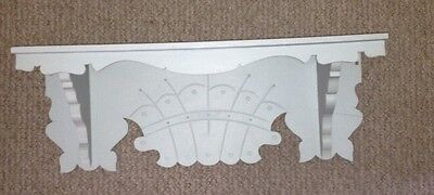 Vintage Eastlake Gingerbread Ginger Bread Mantle Shelf for Clock Org Green Paint