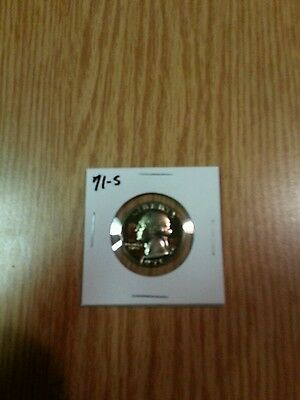 1971-S,,,,,,US PROOF QUARTER,,, FROM US PROOF SET