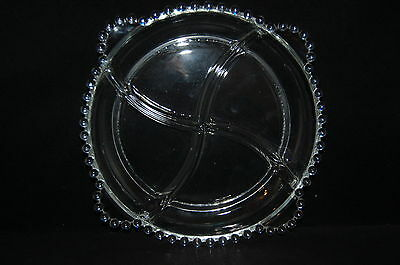 Imperial Glass Candlewicke Clear 3400 4 Part Relish Dish