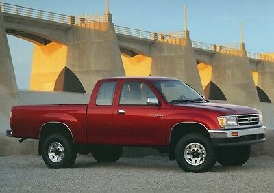 1995 Toyota T100 Pickup Truck ORIGINAL Large Factory Postcard my2400