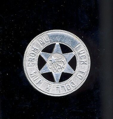 good luck token coin badge aluminum lucky star to doll & jim from al