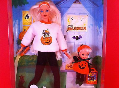BARBIE KELLY GIFT SET DOLLS HAPPY HALLOWEEN SPECIAL EDITION 1996 MATTEL TOY NEW