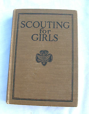 SCOUTING FOR GIRLS Scout Handbook Book, RARE 1926 Edition Good Condition