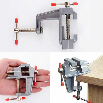"""New 3.5"""" Aluminum Mini Small Jewelers Hobby Clamp On Table Bench Vise Tool Vice"""