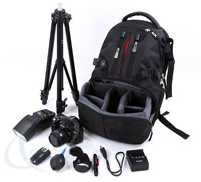 Camera Backpack Rucksack Bag Case Shockproof DSLR RainCover For Canon Nikon Sony