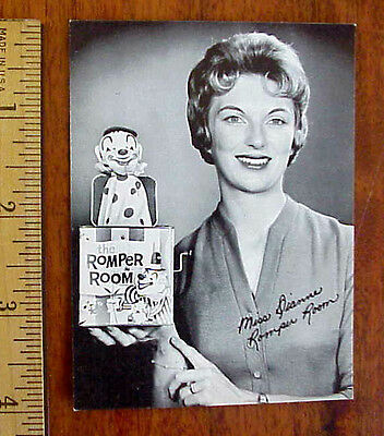 THE ROMPER ROOM MISS DIANNE JACK IN THE BOX CHILDRENS TELEVISION PROMO PHOTO