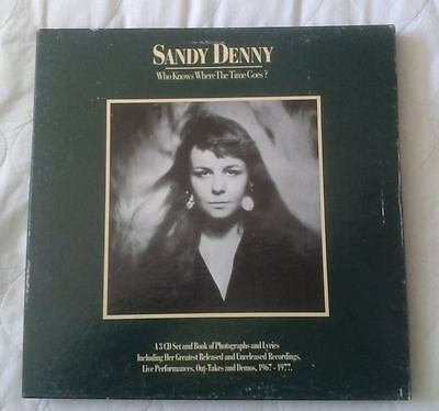 SANDY DENNY-WHO KNOWS WHERE THE TIME GOES? 31cm x 31cm x 2.5cm DISPLAY CD BOX