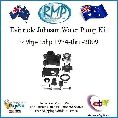 A Brand New Water Pump Kit Evinrude Johnson 9.9hp-15hp 1974-thru-2009 # 394711