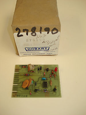 This is a NEW Hobart dishwasher motor protector board, part# 00-278190. 278190.