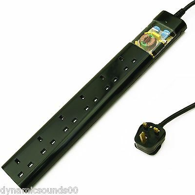 Tacima CS947 6 Way UK Mains Conditioner Surge Protection Interference Filter 2M