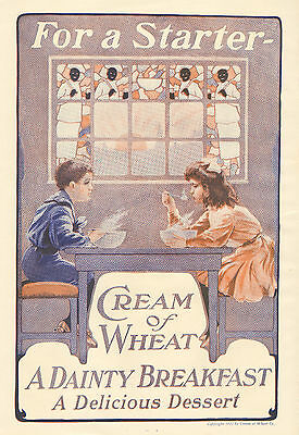 Cream Of Wheat, Black Americana, Vintage 1911 Antique Magazine Print Ad