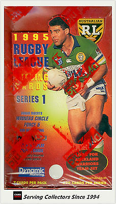 FACTORY BOX!! 1995 Dynamic Rugby League Series (I) Trading Card Box (48 packs)