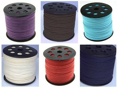 Wholesale 10 yds &100 yds Faux Suede Cord Leather Jewelry Making Beading Thread
