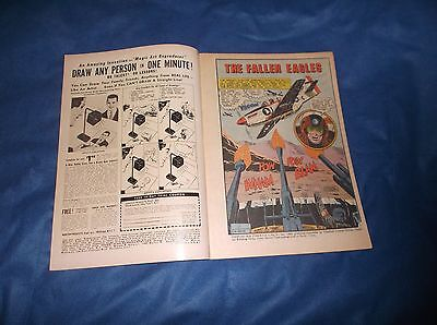 """Vintage 1965 Charlton Comic Book """"Fightn' Air Force With American Eagle"""" #51"""