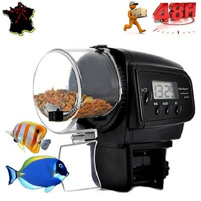Distributeur Automatique De Nourriture Poisson Aquarium Rations Reglables