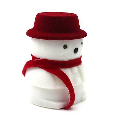 Christmas Gift Snowman Ring Earring Jewellery Collection Candy Box Storage Case