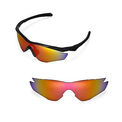 fcece0729f6 New Walleva Polarized Fire Red Replacement Lenses For Oakley M2 Sunglasses