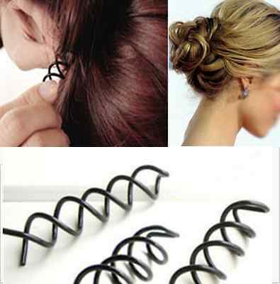 Screw Spiral Spin Bobby Pin Hair Clip Twist Barrette Gold Brown Black 10pcs