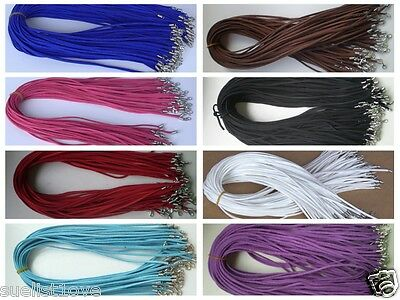 Wholesale price 10 pcs Suede Leather String 20 inch Necklace Cord